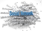 3d image social network   issues concept word cloud background — Stock Photo