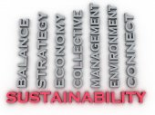 3d image Sustainability  issues concept word cloud background — Stock Photo