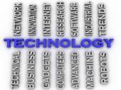 3d image Technology  issues concept word cloud background — Stock Photo