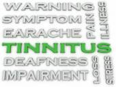 3d image Tinnitus  issues concept word cloud background — Stock Photo