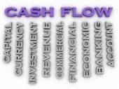 3d image cash flow   issues concept word cloud background — Stock Photo