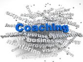 3d image Coaching  issues concept word cloud background — Stock Photo