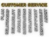 3d image customer service  issues concept word cloud background — Stock Photo