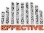 3d image effective  issues concept word cloud background — Stock Photo