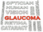 3d image Glaucoma  issues concept word cloud background — Stock Photo