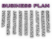 3d image Business plan   issues concept word cloud background — Stock Photo