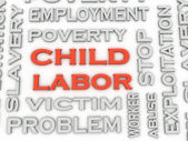 3d image Child Labor  issues concept word cloud background — Stock Photo