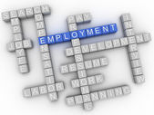 3d image Employment  issues concept word cloud background — Stock Photo