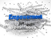 3d image Empowerment   issues concept word cloud background — Stock Photo