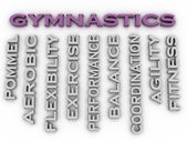 3d image Gymnastics  issues concept word cloud background — Stock Photo