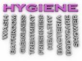 3d image Hygiene   issues concept word cloud background — Stock Photo