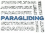 3d image Paragliding  issues concept word cloud background — Stock Photo