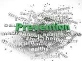 3d image Prevention  issues concept word cloud background — Stock Photo