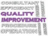 3d image Quality improvement   issues concept word cloud backgro — Stock Photo