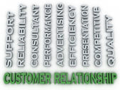 3d image Customer relationship issues concept word cloud backgro — Stock Photo