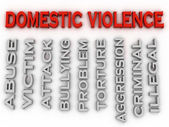 3d image Domestic violence issues concept word cloud background — Stock Photo