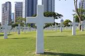 American Memorial Cemetery in Manila, Philippines.It has the lar — Stock Photo