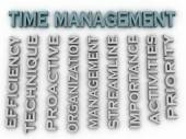 3d image Time management issues concept word cloud background — Stock Photo