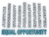 3d image Equal opportunity issues concept word cloud background — Stock Photo