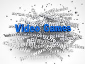 3d image Video games issues concept word cloud background — Stock Photo