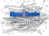 3d image Bipolar disorder issues concept word cloud background — Stock Photo