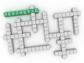 3d image Aesthetic issues concept word cloud background — Stock Photo