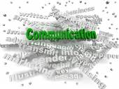 3d image Communication word cloud concept — Stock Photo