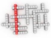 3d image Contamination word cloud concept — Stock Photo