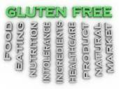 3d image Gluten free issues concept word cloud background — Stock Photo