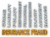 3d image Insurance fraud issues concept word cloud background — Stock Photo