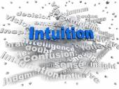 3d image Intuition word cloud concept — Stock Photo