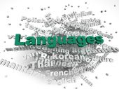 3d image Languages of the world issues concept word cloud backgr — Stock Photo