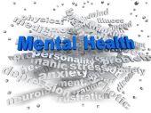 3d image Mental health word cloud concept — Stock Photo