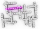 3d image Trademark word cloud concept — Stock Photo