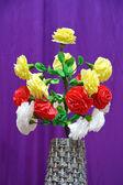 Artificial flower bouquet — Stock Photo