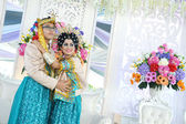 Indonéské svatební páry — Stock fotografie