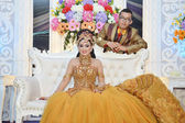 Indonesian bridal couples — Stock Photo