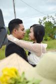 Prewedding 拍摄的印度尼西亚新婚夫妇 — 图库照片