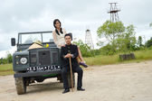 Indonesian bridal couples prewedding photoshoot — Stock Photo