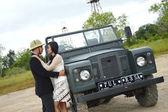 Indonéské svatební páry prewedding focení — Stock fotografie