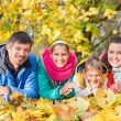 Family relaxing in park — Stock Photo #56153375