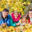 Family relaxing in park — Stock Photo #56274827