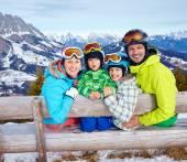 Family enjoying winter vacations. — Stock Photo