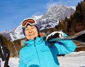 Senior skier woman — Foto de Stock