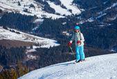Ski, skidåkare, vinter — Stockfoto