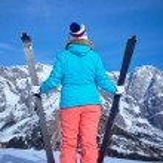 Ski, winter, snow, skiers, sun and fun — Stock Photo #63392711