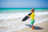 Boy with surf — Foto Stock