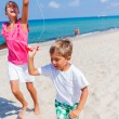 Kids with kite. — Stock Photo #67227581