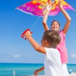 Kids with kite. — Stock Photo #67227673