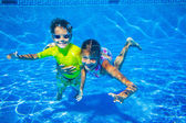 Podvodní kid — Stock fotografie